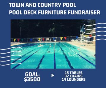 pool furniture fundraiser